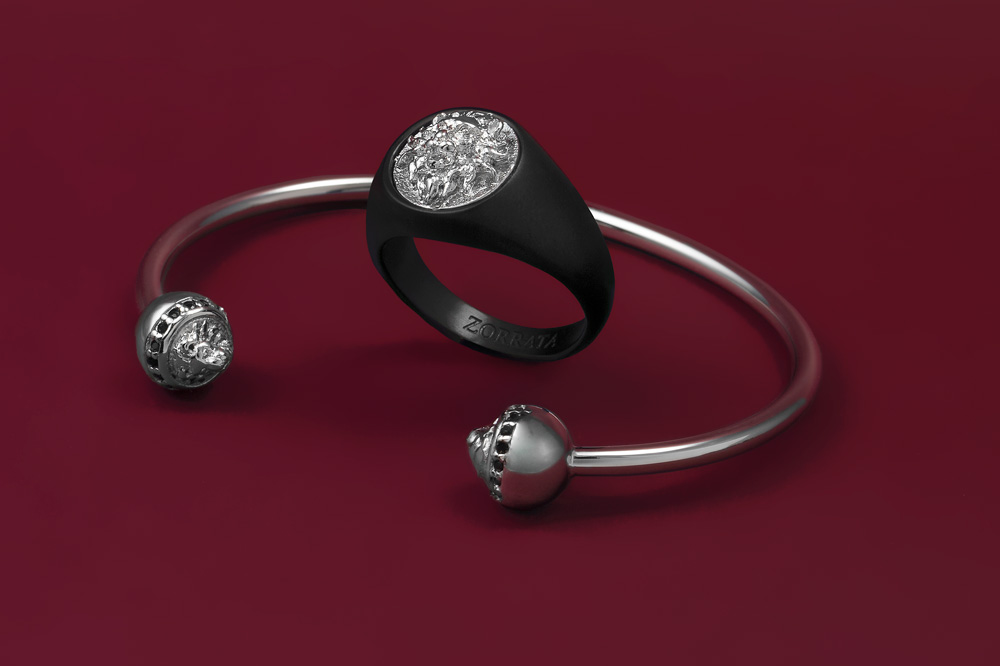 Ring-Black-Silver-La