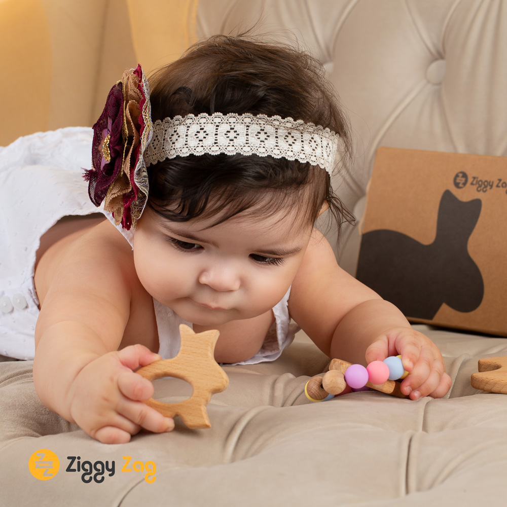 Lifestyle Images Product Photography. Baby Wooden Teether Amazon.