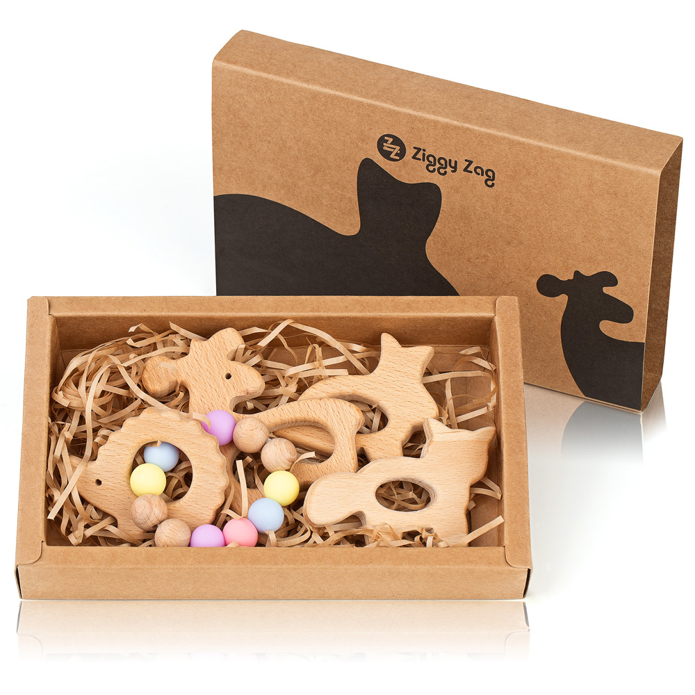 High Quality Product Photography. Baby Wooden Teether Amazon.