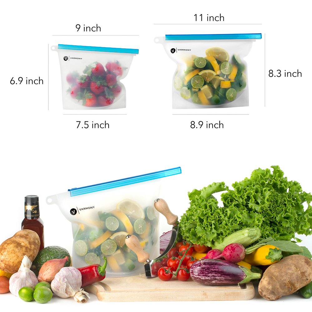 High Quality Photography. Silicone Food Bags.