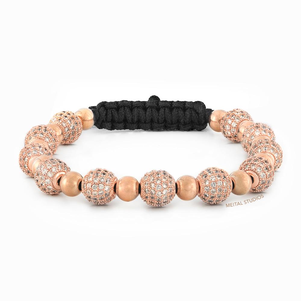 Beaded Bracelet Rode Gold