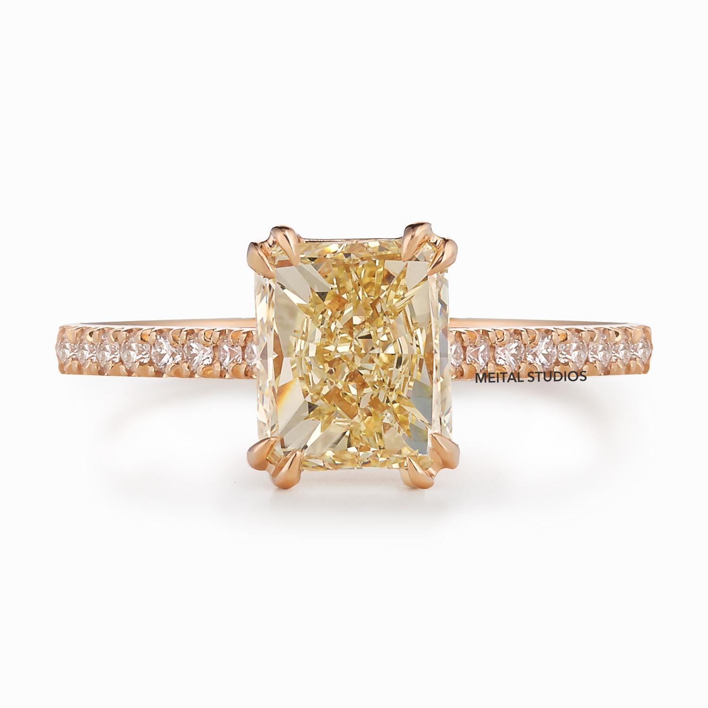 Yellow Diamond Ring Front