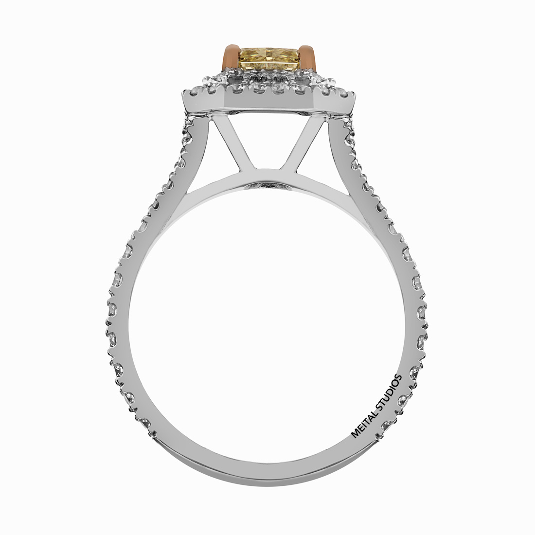 Yellow Gold Side Ring.