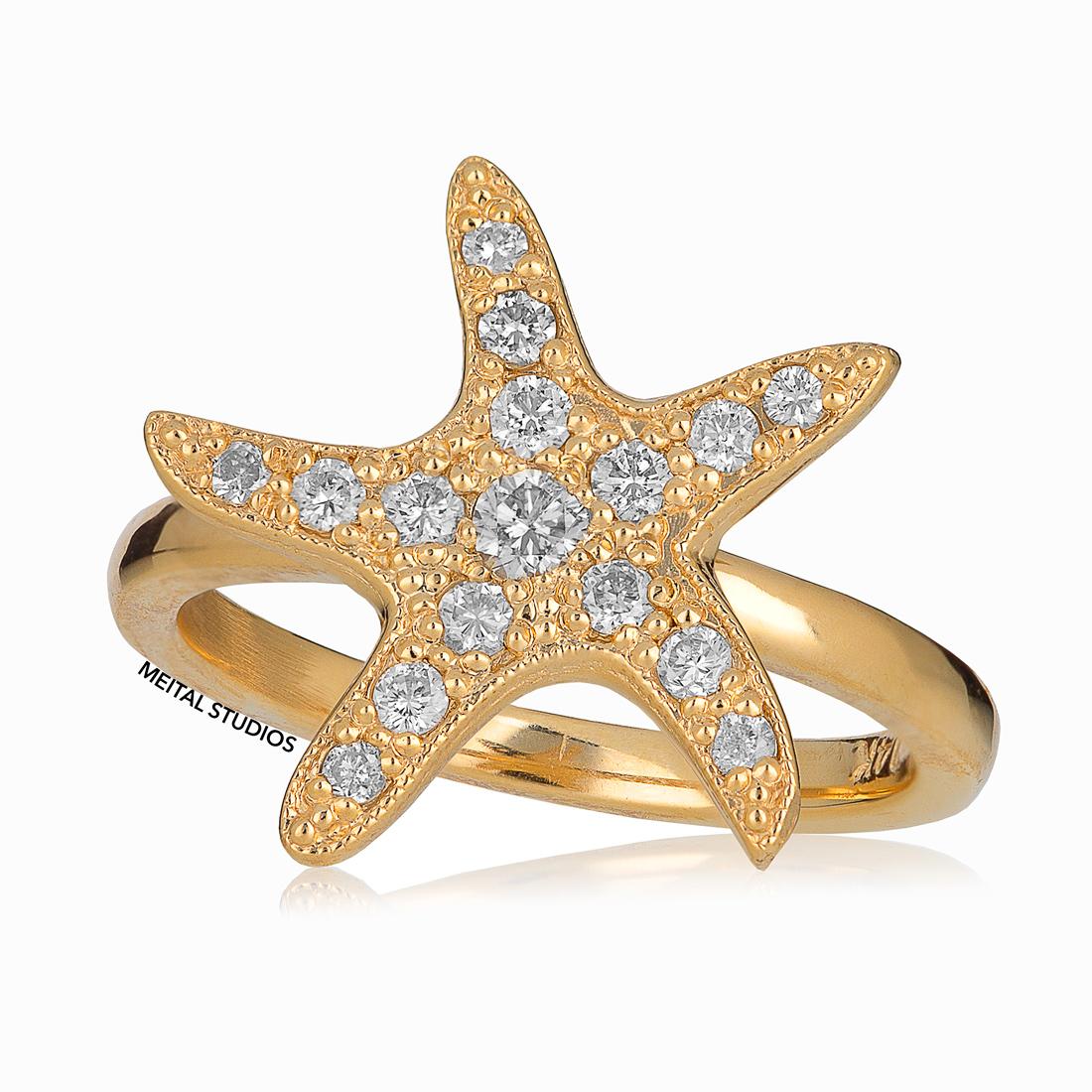 Gold Star Ring.