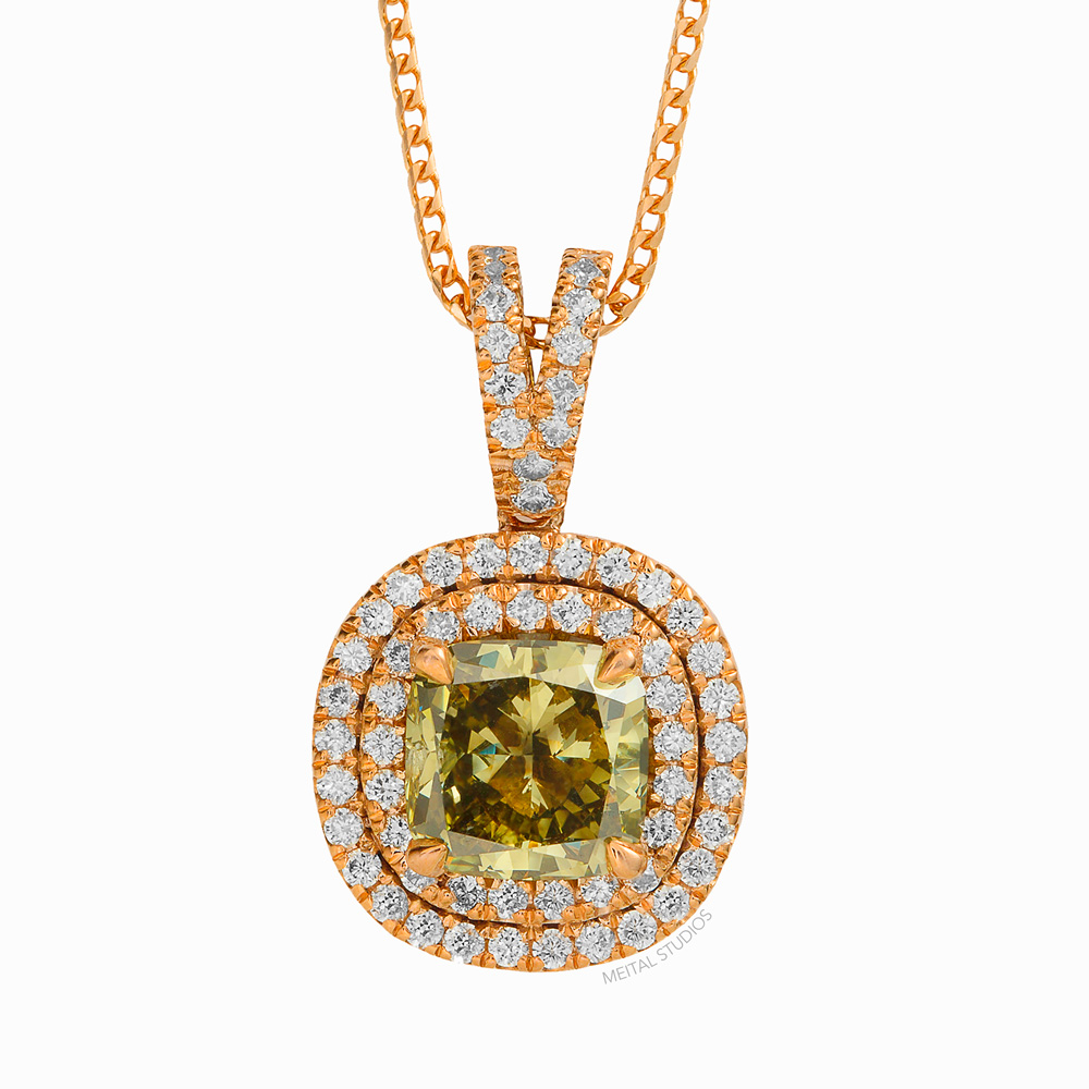 Jewelry Gold Diamond Necklace