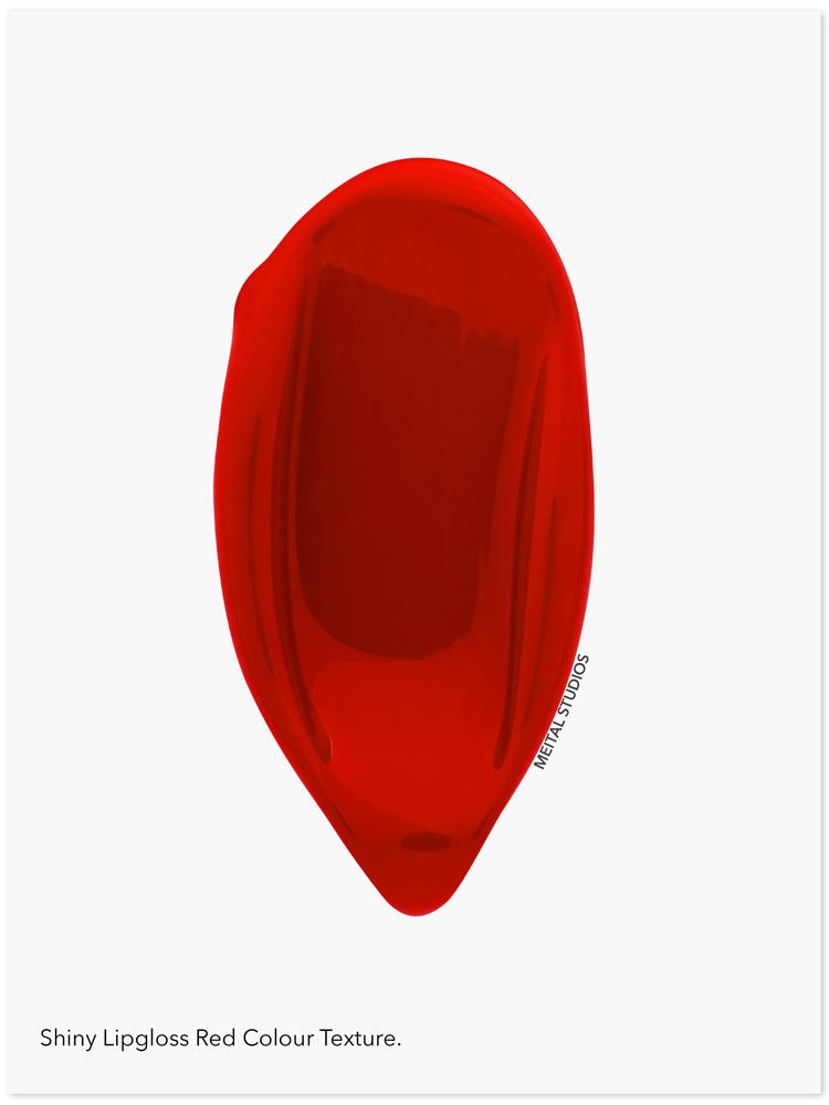 Red Shiny Lipstick Swatch