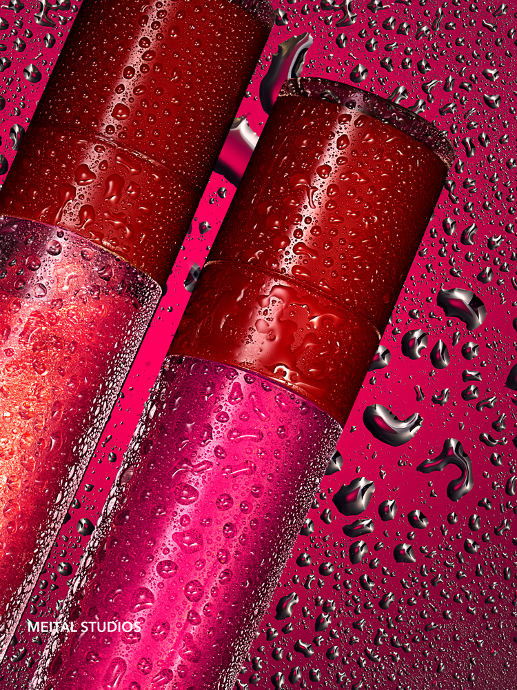 Lipgloss & Water Drops